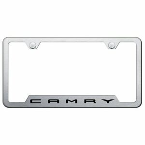 Toyota Camry Brushed Chrome Stainless Steel License Plate Frame