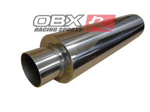 Obx Stainless Suv Welded On Resonator Inlet Outlet 2 5 Length 18