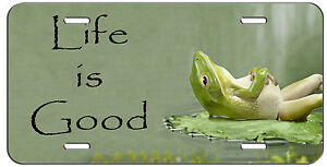 Custom License Plate Life Is Good Frog Auto Tag
