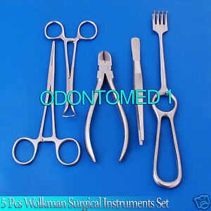 5 Pcs Surgical Instruments Medical Equipment Set Ds 640