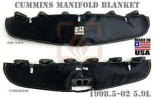 Black Performance Turbo Manifold Blanket For 1998 5 2003 Cummins Diesel 5 9