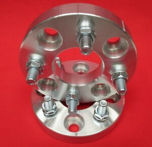 1 25 Billet Wheels Spacers Ford Mustang 4 Lug Machined 1 2 X 20 Studs Nuts