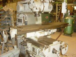 Van Norman Universal Mill 50 Taper Spindle 64 x14 table