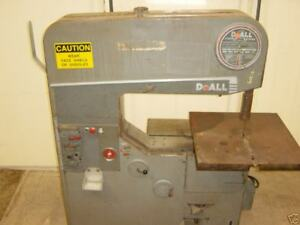 Doall Vertical Band Saw Model 36 2 3 4 Blade 36 Throat