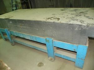 Granite Surface Plate With Heavy Metal Stand 4ft X 10ft