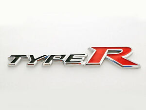Honda Type R Emblem Black Logo Badge Sicker Civic Accord Si Trunk Letters New