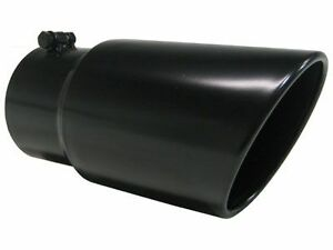 Diesel Truck Mbrp 5in To 6in Dual Wall Exhaust Tip Black Angle Rolled 12in Long