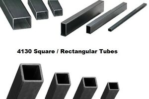 4130 Steel Square Tube 5 8 Square X 035 Wall X 36 Length