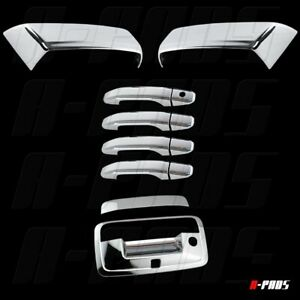 Fit Chevy Silverado 2014 2018 Chrome Mirror Door Handle And Tailgate Cover