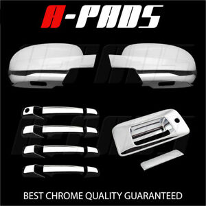 For Chevy Silverado 2007 2013 Chrome Full Mirror Door Handle Tailgate Cover