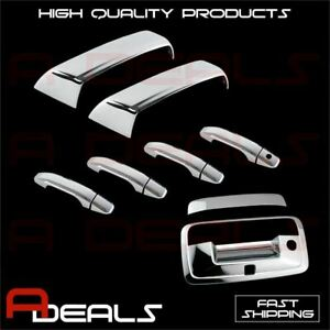 For Chevy Silverado 2014 2017 Chrome Mirror Door Handle And Tailgate Cover