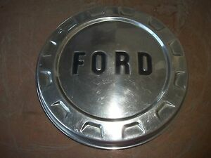 Ford Center Hub Cap Wheel Cover Rim Hubcap Polished Poverty Dog Dish Oem Used
