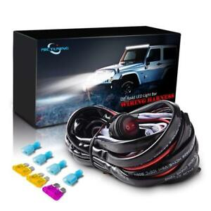 Mictuning Wiring Harness Led Light Bar 40amp Relay Fuse On Off Switch 2 Lead