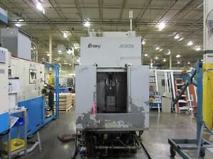 Enshu Horizontal Machining Center Model Je30s Fanuc 21i mb Control 12 5 Pall