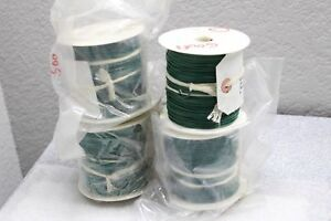 2000 Mil spec 24 Awg Hook up Solid 1 Strand Wire Usa Spool 1561 24 Green 1000v