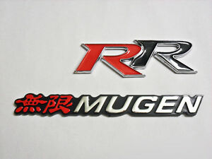 For Honda Mugen Rr Emblem Red White Black Logo Sticke Sir Acurr Civic Accord Si