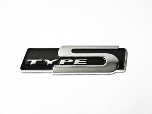 For Honda Acura Type S Emblem Black Badge Sticker Letter Decal 3d Rsx Jdm New