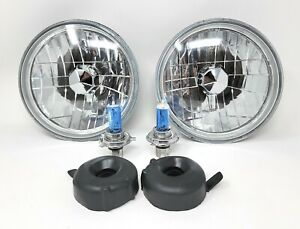 97 18 Jeep Wrangler Tj Jk 7 Round Chrome Replacement Crystal Clear Headlights