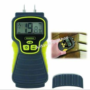 Moisture Meter Detector Pin Type Digital Lcd Display Contractors Tester Tools