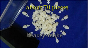 About 70pieces Dental Temporary Crown Material For Anterior Front Teeth Tooth