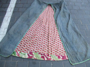 Antique Uzbek Ikat Coat Chapan Robe 1900