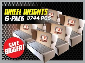 6 Boxes 1 4 Oz Stick on Adhesive Tape Wheel Weights 3744 Pieces 936 Oz