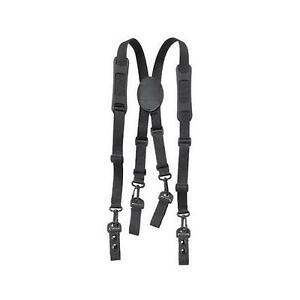 Police Fireman Sheriff Security Officer Black Nylon Duty Belt Suspenders