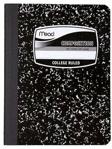 New Mead Composition Notebook College Ruled 100 Sheets 12 Pack 72938