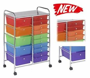 Drawer Rolling Mobile Storage Organizer Cart File Tools Cabinet School Office