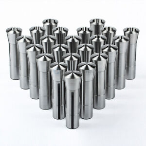 23 Piece R8 Collet Set Fractional 1 16 To 3 4 High Precision For Bridgeport