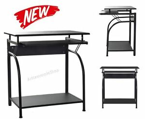 Computer Desk Home Office Furniture Laptop Table Keyboard Tray Storage Shelf New