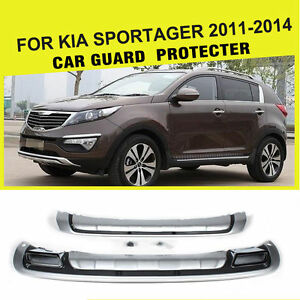 Chrome Pp Front Rear Bumper Guard Protecter Plate Fit For Kia Sportage 2011 2014