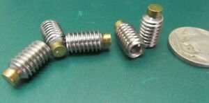 18 8 Stainless Steel Set Screws Brass Tip 5 16 18 X 1 2 Length 10 Pieces
