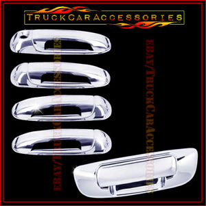 For Dodge Ram 1500 2002 2008 2500 3500 Hd 2003 08 Chrome Covers 4 Doors Tailgate