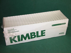 Kimble 16mm X 125mm Disposable Glass Culture Tubes Qty 225