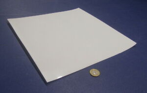 Delrin Acetal Sheet White Pom 005 Thick X 12 Width X 12 Length