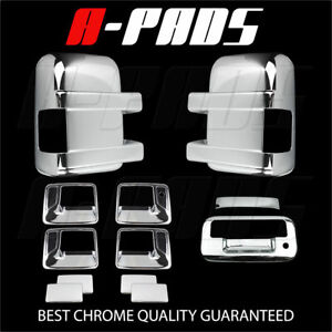For Ford F 250 f 350 08 16 Chrome Mirror Door Handle Tailgate Cover W o Cam