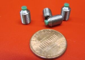 18 8 Stainless Steel Set Screws Nylon Tip 1 4 28 X 3 8 Length 20 Pieces