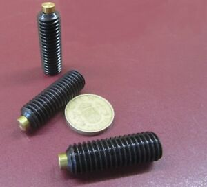 Alloy Steel Set Screws Brass Tip 1 2 13 X 1 1 2 Length 3 Pieces
