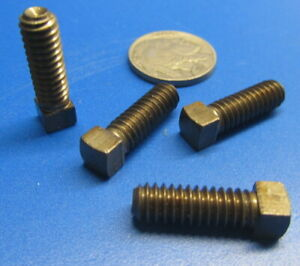 Plain Steel Square Head Set Screws Cup 1 4 20 X 3 4 Length 100 Pieces