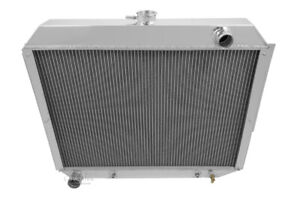 1966 1970 Dodge Monaco Radiator Polished Aluminum 3 Row Champion Radiator
