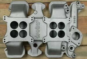 Wo4d Olds Oldsmobile 2x4 Dual Quad Vintage Aluminum Intake Manifold Weiand 1959