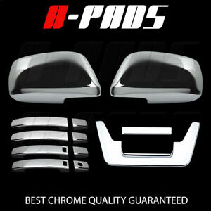 For Nissan Frontier 05 12 Chrome Mirror Door Handle Tailgate Cover W Skh