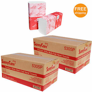 2 Cases White Premium Quality Multifold Paper Towel 200 pk 16pks cs