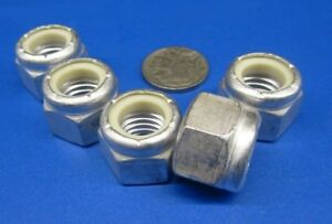 Nylon Insert Lock Nut Aluminum 1 2 13 Threads 20 Pcs