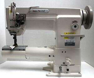 Metro Ms 8244l Walking Foot 2 needle Cylinder Bed Industrial Sewing Machine Head