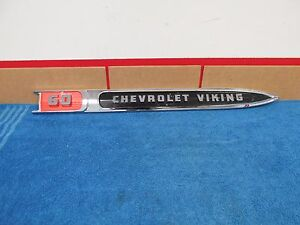 1958 59 Chevy Truck Viking 60 Fender Emblem Trim Nos Gm 815