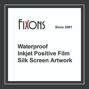 Waterproof Inkjet Screen Printing Positive Film 13 x19 100 Sheets