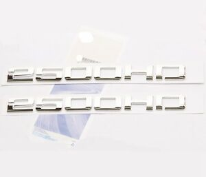 2pcs Genuine Chrome 2500hd Nameplates Emblems Badges For Gm Silverado Sierra