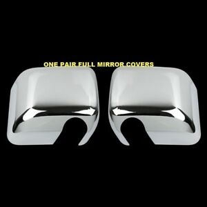 For Jeep Wrangler 2007 2012 2013 2014 2015 2pc Chrome Full Mirror Mirrors Covers